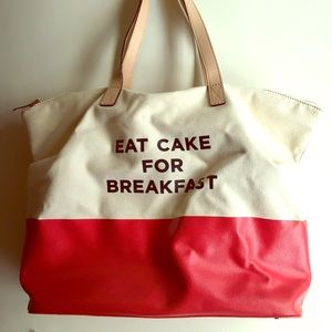 Kate Spade Eat Cake For Breakfast Canvas Tote